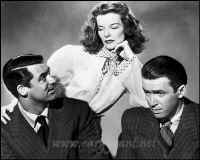 Cary Grant, Katharine Hepburn, Jimmy Stewart